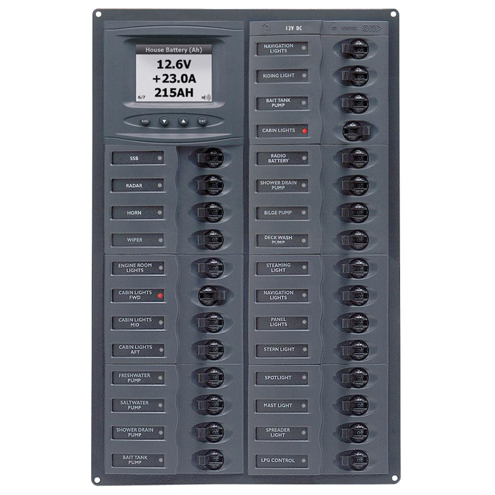 BEP Millennium Series DC Circuit Breaker Panel w/Digital Meters, 28SP DC12V