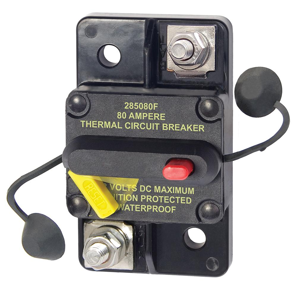 Blue Sea 7186 80 Amp Circuit Breaker Surface Mount 285 Series Fuse Box