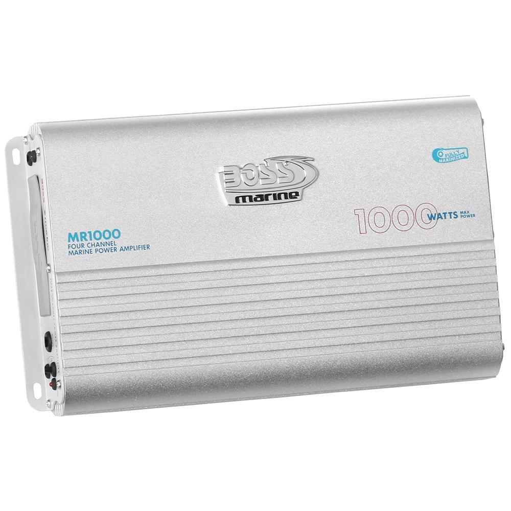 Boss Audio Mr1000 Marine Power Amplifier 4 Channel Mosfet Bridgeable 100w