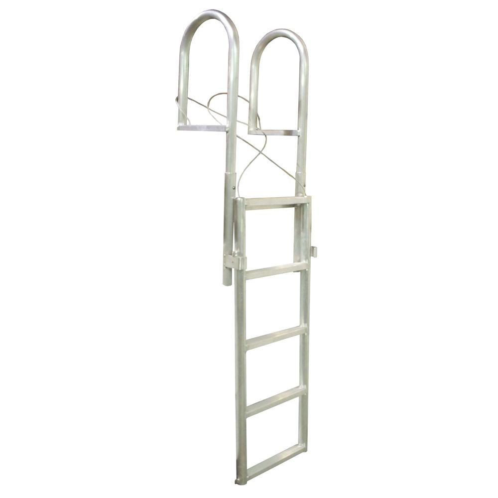 Dock Edge SLIDE-UP Aluminum 5-Step Dock Ladder