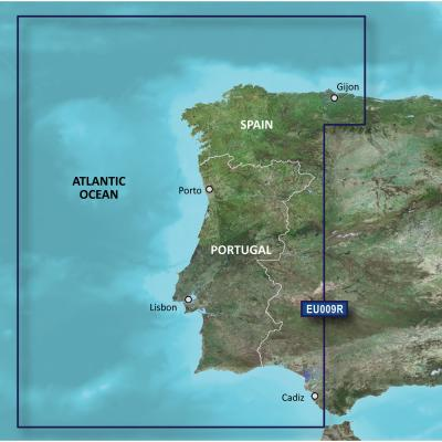 Garmin BlueChart g3 Vision HD - VEU009R - Portugal  NW Spain - microSD/SD