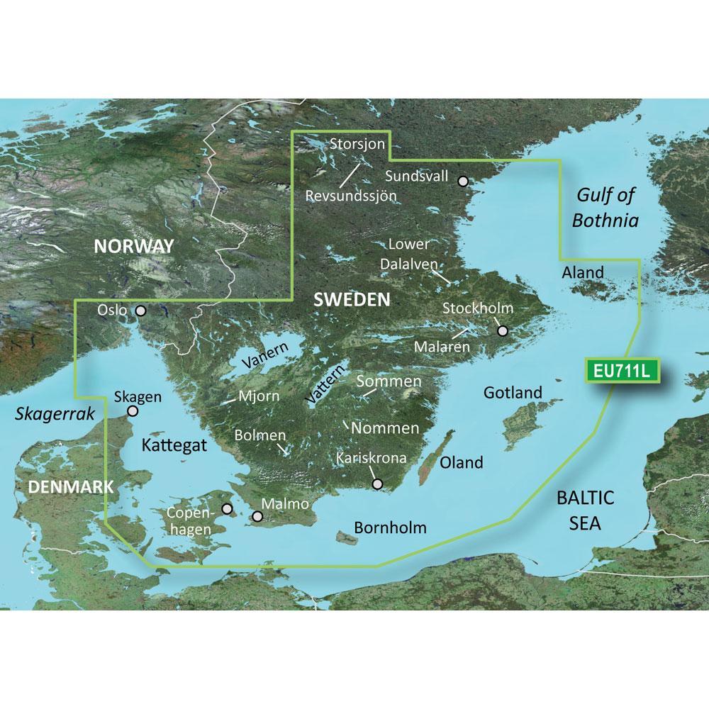 Garmin BlueChart G Vision HD VEUL Sweden South MicroSDSD - Sweden map garmin