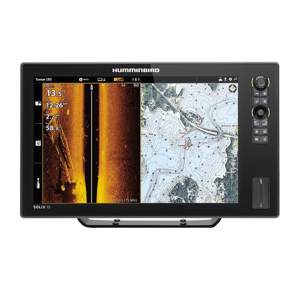 Humminbird SOLIX 15 CHIRP MEGA SI Fishfinder/GPS Combo G2 w/Transom Mount  Transducer