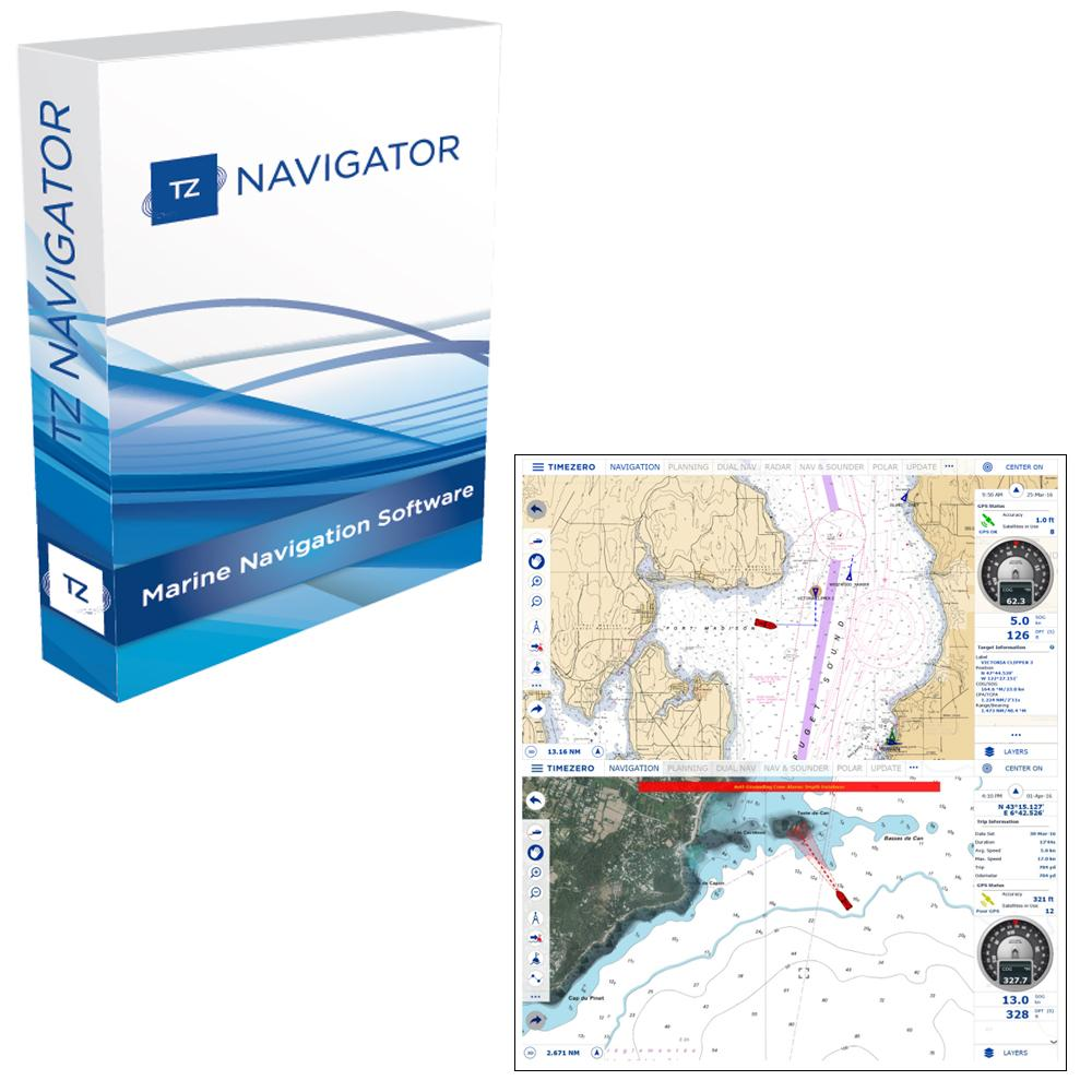Nobeltec TZ Navigator Upgrade From Odyssey/Trident - Digital Download