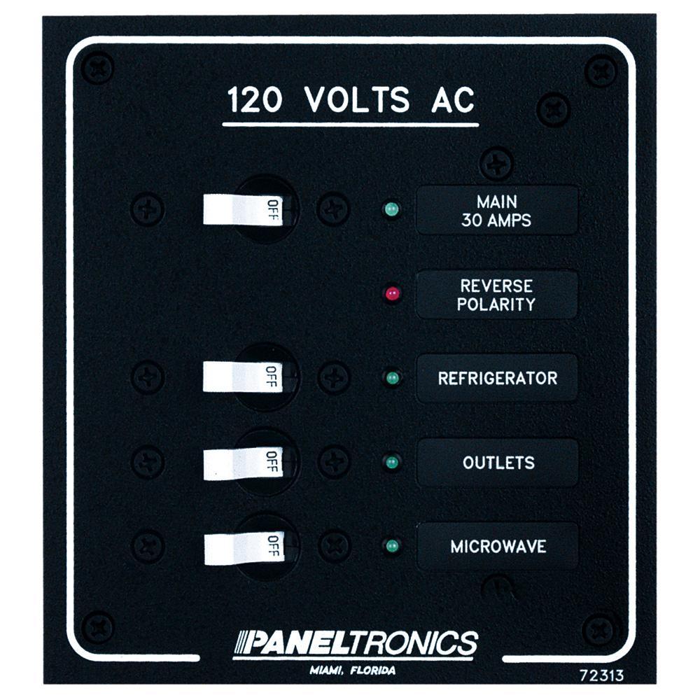 9972313B // PANELTRONICS Paneltronics Standard AC 3 Position Breaker Panel /& Main w//LEDs