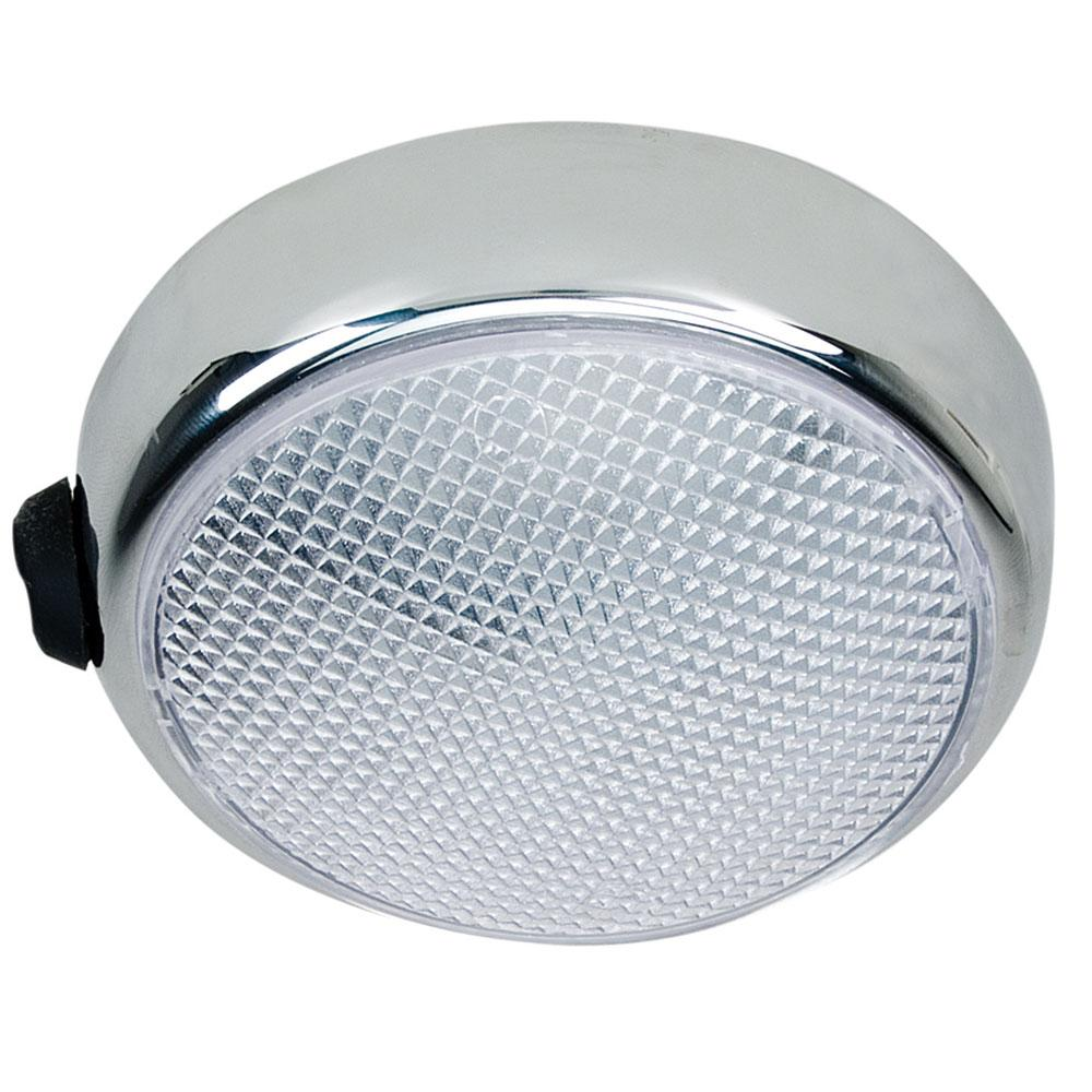 Round surface mount led dome light chrome plated wswitch perko round surface mount led dome light chrome plated wswitch arubaitofo Images