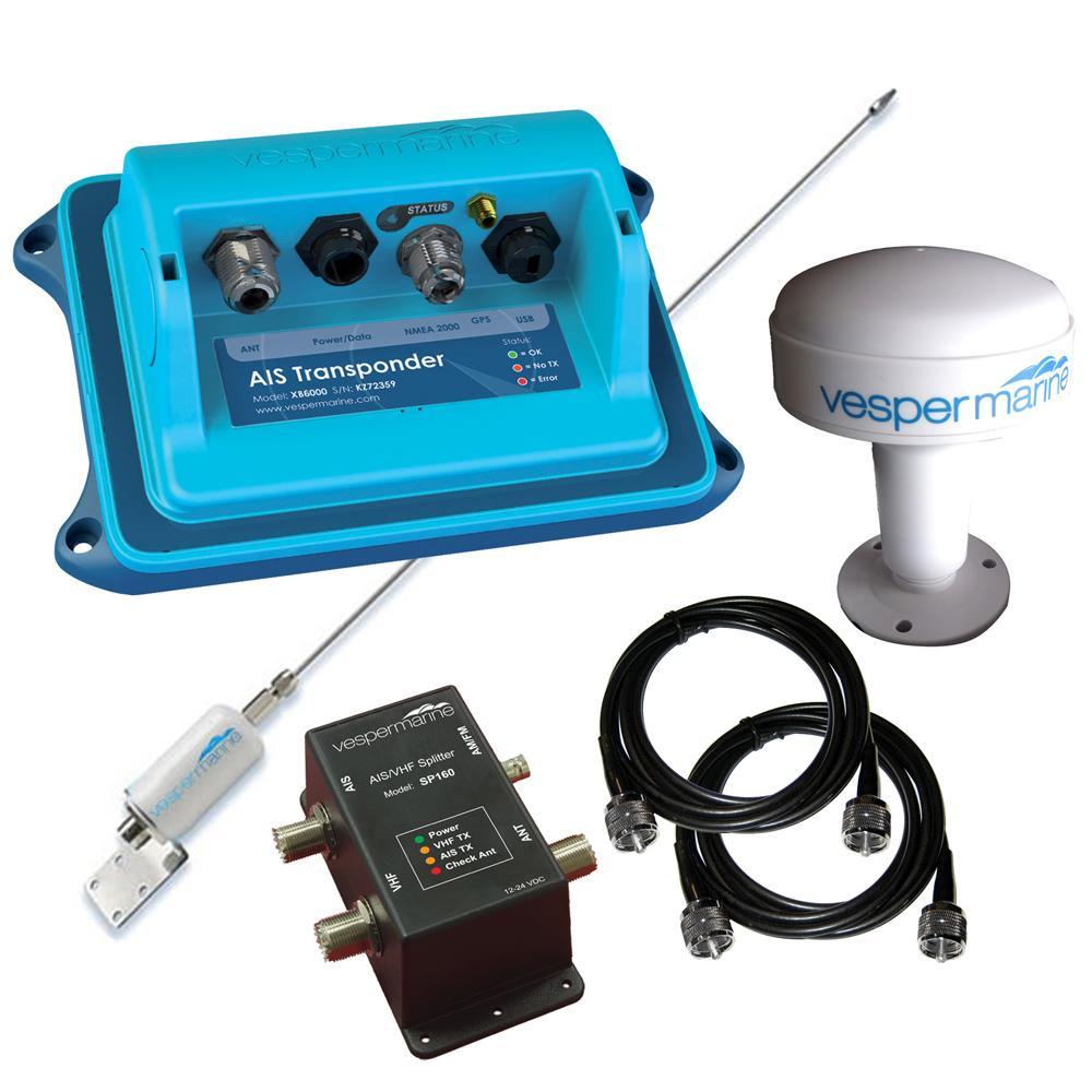 Vesper XB-6000 AIS Transponder Nav Station Package