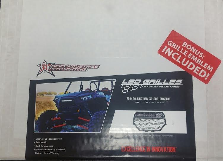 Rigid industries sr series led light bar grille kit 2014 2016 rigid industries sr series led light bar grille kit 2014 2016 polaris rzr xp1000 aloadofball Choice Image