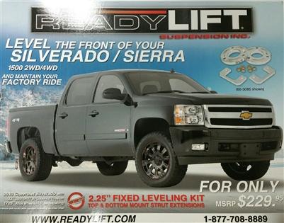 Readylift 2 25 Lift Kit For 2007 2016 Chevy Gmc Silverado Sierra 1500 66 3085