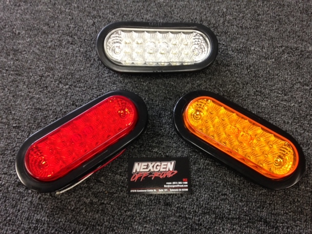 Led Brake Oval Tail Light With Rubber Grommet 945500 945592o