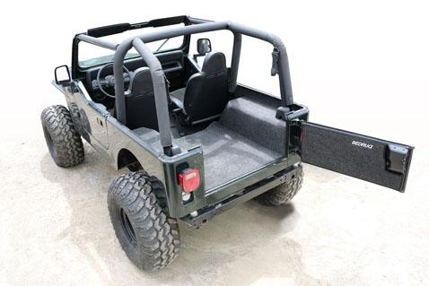 87 95 Jeep Wrangler Yj Custom Bedrug Rear Bryj87r