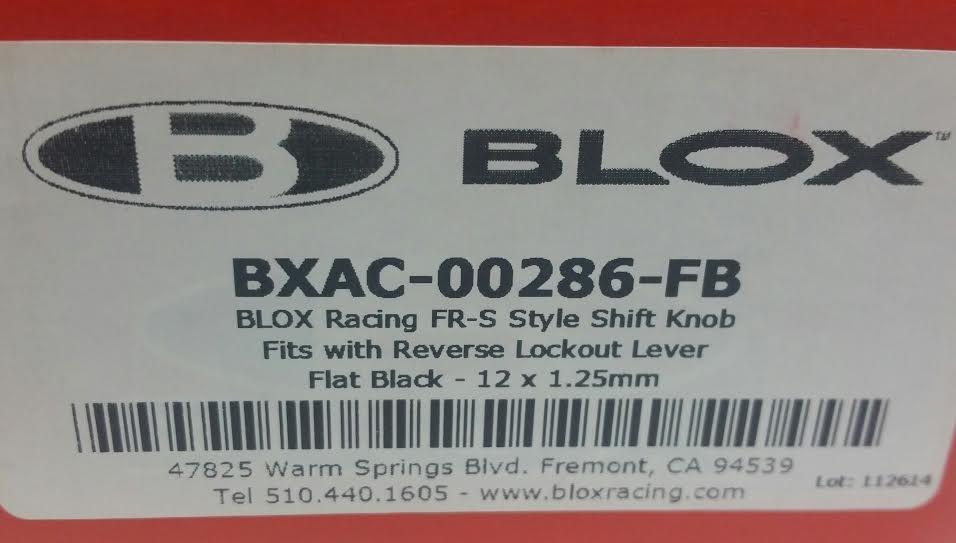 Blox Racing BXAC-00286-FB PERFORMANCE ACCESSORIES