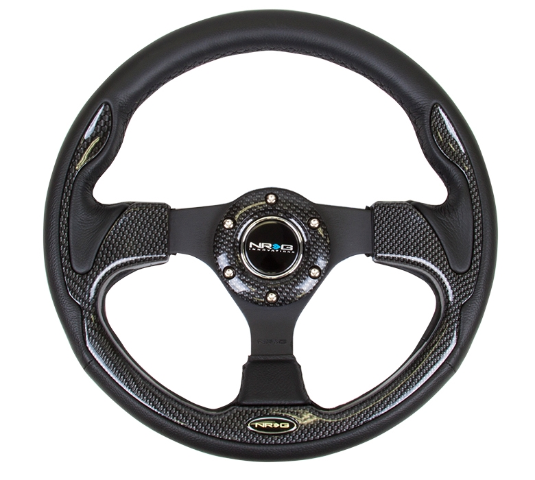 NRG Innovations RST-009S Race Style Suede Leather Steering Wheel with Black stitch