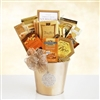 Holiday Gold Ornament Basket