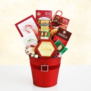 Holiday Santa Gift Basket
