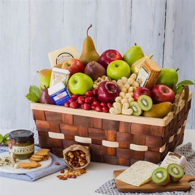 Gourmet Cheese & Fruit Basket