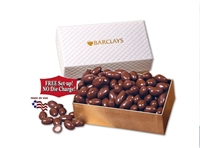 Chocolate Covered Almonds Gift Box with Free Logo