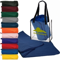 Stadium Tote with Blanket and your Logo