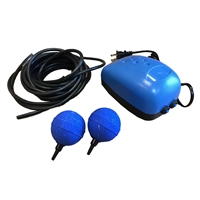 This picture shows a backup air pump for koi pond aeration. Koi Pond Air Pump - Pond Air 10
