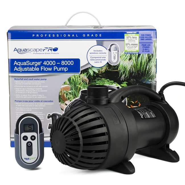 Aquascape Aquasurge Pond Pump Pro with Variable flow/remote 4000-8000 GPH