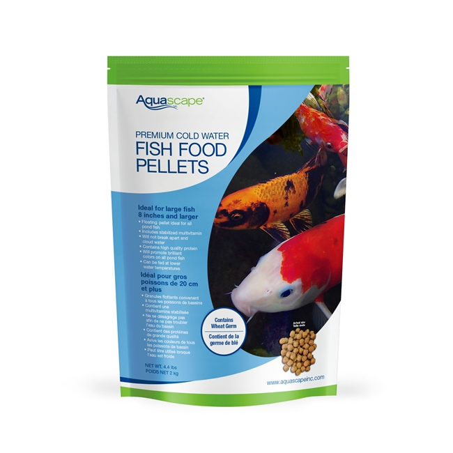 Aquascape Premium Cold Water Fish Food Pellets 4.4lbs - Large Pellets