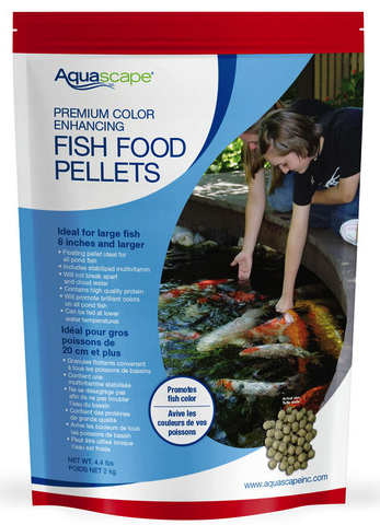 Aquascape Premium Color Enhancing Koi Fish Food 2.2lbs - Medium Pellets