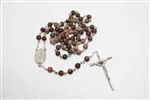 Apple Jasper Gemstone Silver Toned Rosary