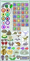 Sensory Path Prehistoric Dinosaur Floor Decals Pre-cut
