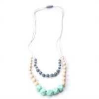 Chew necklace mint two strand