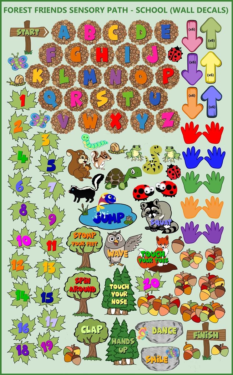 stay magical wall art print.htm sensory path forest trail wall decals pre cut  sensory path forest trail wall decals