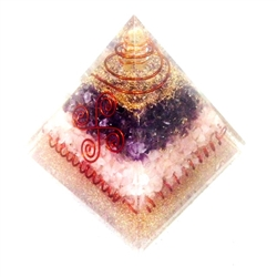 Orgone Extra  Large Pyramid - Electric & Creative -Feng Shui - for creativity