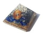 Orgone Pyramid - for protection & comunication lapis lazuli 4/5G with elite shungite