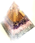 Amethyt, Rose Quartz Orgone Extra  Large Pyramid - highest quality