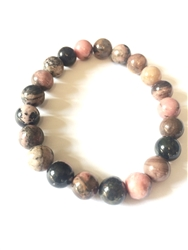 Rhodonite love  bracelet