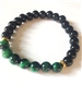 Green Tiger eye heart protection bracelet