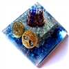 Large Orgone lapis Giza Pyramid - good for THINKING, STUDYING & FAITH