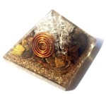 Tiger Eye Orgone Pyramid - for protection/will power 4/5G