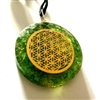 Flower of life Green Onyx Orgonite - Orgone pendant