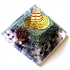 Orgone Large Pyramid -Higher Eye Chakra Vibration Frequency LOVE & PROTECTION - for third eye activation -water element