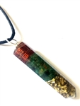 Powerful jade point orgone  pendant