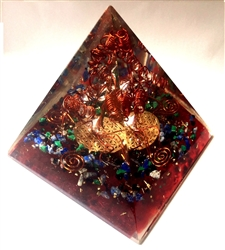 Malachite orgone pyramid