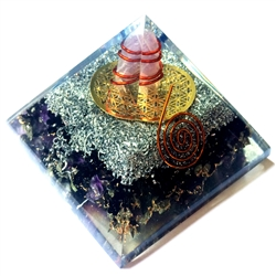 Orgone Large Pyramid -Healing Root Vibration GROUNDING & MEDITATION Frequency 8-13HZ - EARTH ELEMENT