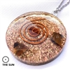 Carnelian Orgone Pendant - For courage, wealth, strength (sun)