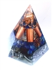 throat Chakra - Orgone pyramid - lapis lazuli and pyrite (5G)