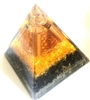 Tourmaline, citrine, Orgone Extra  Large Pyramid - highest quality
