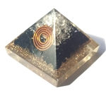 Black Tourmaline Orgone Pyramid - for protection 4/5G