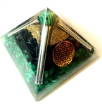 Malachite Large Pyramid - (4G/5G) protector
