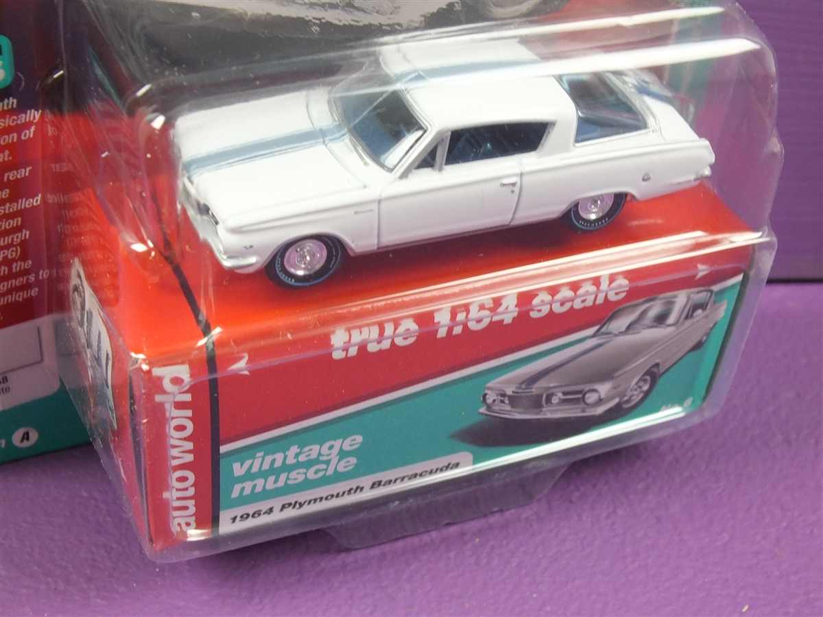 1964 Plymouth Barracuda WHITE WITH SILVER STRIPE