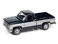 1982 Chevrolet Silverado 10 in Midnight Blue Body with Silver Sides  Auto World Premium - 2021 Release 2A