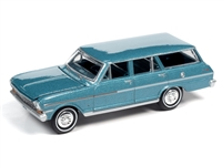 1963 Chevy II Nova 400 Station Wagon in Azure Aqua Poly  Auto World Premium - 2021 Release 2A